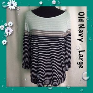 Old Navy Multicolor Striped Tee Size Large